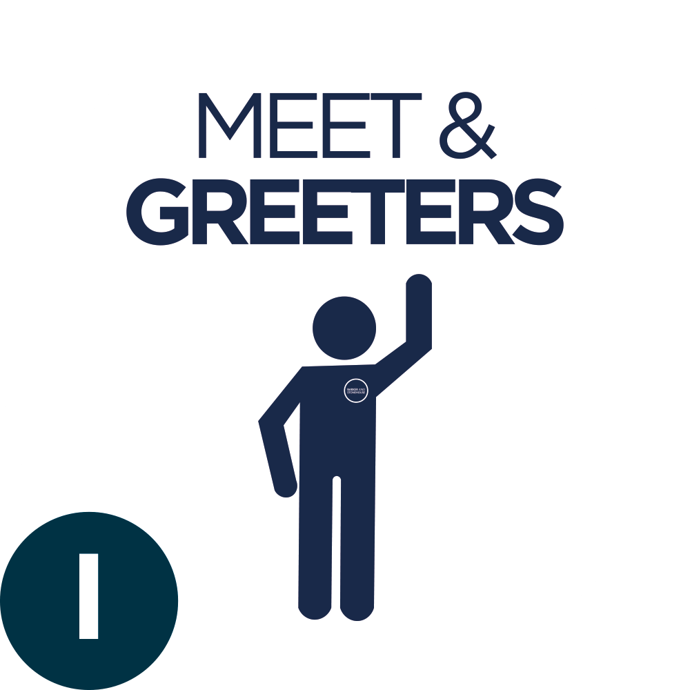 1. MEET & GREETERS